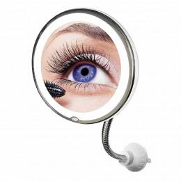 Косметическое зеркало настенное с подсветкой 10x Ultra Flexible Mirror