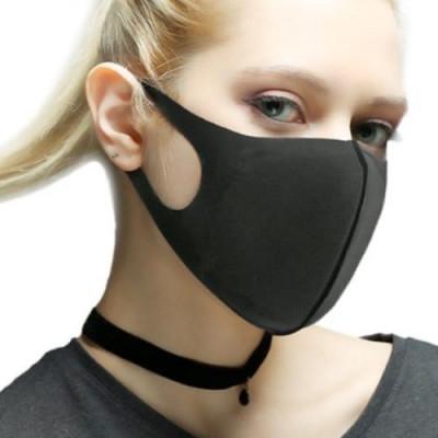 Защитная маска, антибактериальная, черная,